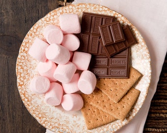 Pink S'more Kitchen Food Smores Chocolate retro Candy Marshmallows 8x10Fine Art Photograph