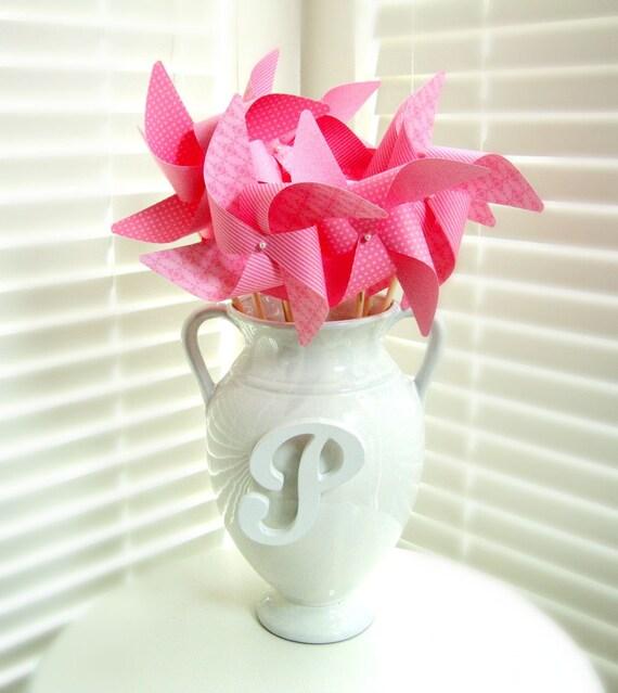 Pink Pinwheels ROSE set of 8 Large Pinwheels