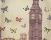"Big Ben, London Photography, Butterflies, fine art photography - ""Only Moments"""