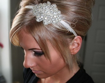 ON SALE Bridal Rhinestone Headband, Bridal Headpiece, Rhinestone Headband, Bridal Headband