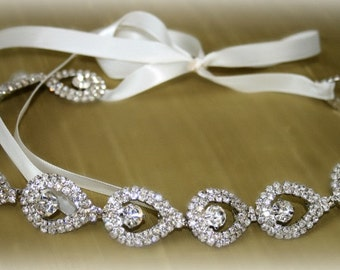 Rhinestone Bridal Headband- ELSIE- Wedding Headpiece, Rhinestone Headband, Bridal Headpiece, Hair Accessories