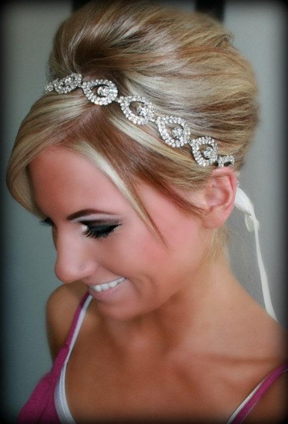 Bridal Headband, Bridal Head Piece, ELSIE, Rhinestone Headband, Wedding Headband, Bridal Hair Piece, Bridal Headpiece, Rhinestone