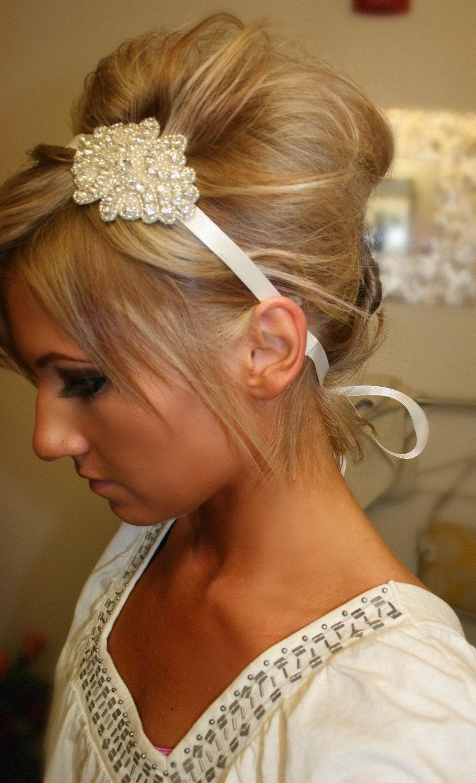 Outstanding Rhinestone Bridal Headband Kelly Wedding Headpiece By Brasslotus Hairstyles For Women Draintrainus