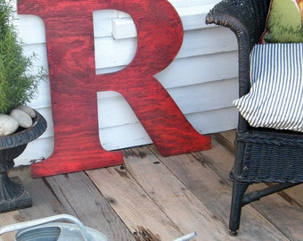 "Really Big Letters 24"" High Super Large You Pick the Letter and Color Dorm Decor Wedding Teen Room"