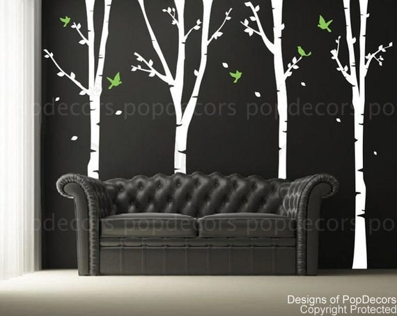 custom for simon campbell - 4 Super Birch Trees(102inch H)