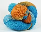 POOL PARTY hand painted superwash merino sock yarn
