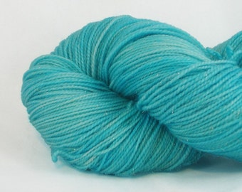 ATLANTIS hand dyed superwash glitter sock yarn