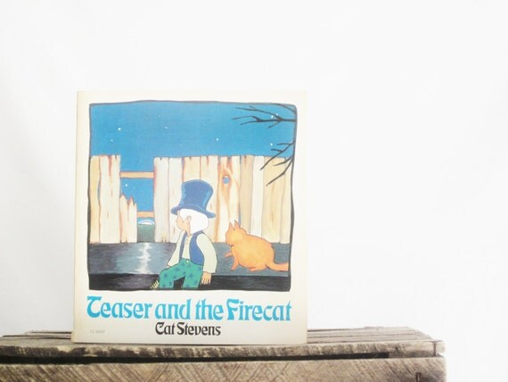 Vintage Children's Book Teaser and the Firecat Cat Stevens First Printing Illustrated French Spanish Repurpose