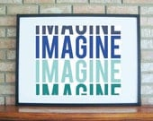 Printable - Beatles Collection : Imagine -INSTANT DOWNLOAD {5x7, 8x10, and 11x14} in 4 different varieties