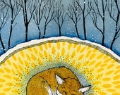 Hibernating Fox - Archival Print