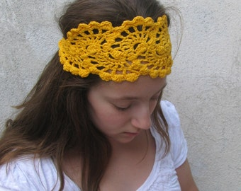 Crochet HeadBand - Hair  Accessories - HandCrochet Bandana / Headband