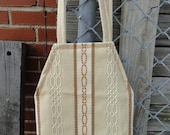 CLEARANCE - Cream and Brown Textured Purse