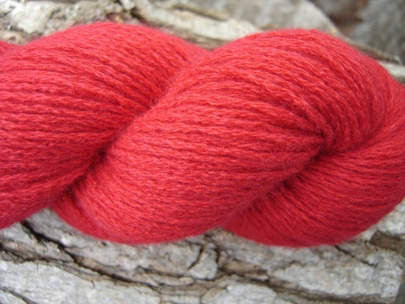 Recycled Cashmere Yarn - Really Red - RESERVED Lot for M L