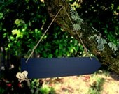 Personalized Double Sided Chalkboard Arrow Sign, Chalk included