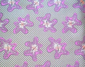 Groovy Retro Brocade Fabric -- Atomic Space Age with Purple Amoebas -- Half Yard