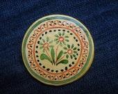 Romanian traditional motives, flower magnets, Fridge Magnets- clay magnet, Cucuteni, Folk art painting, primitive art magnet