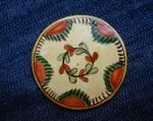 Romanian traditional motives, flower magnets, Fridge Magnets- clay magnet, Cucuteni 08, Folk art painting, primitive art magnet