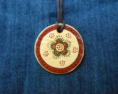 Romanian traditional motif, pendant,God's eye