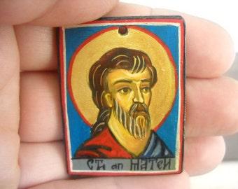 Miniature icon of Saint Matthew, St. Matthew the Evangelist Catholic Saint, Catholic gift, Baptismal gift, Confirmation Gift