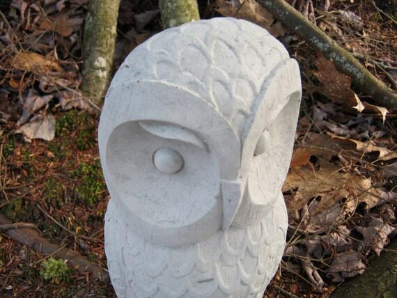 Owl Statue Sculpture, Concrete Owl, Post Topper Owl, Cement Owl, Owl Decor, Statues Of Owls, Owl Garden Decor, Owl Statue, Owl Figure, Owls