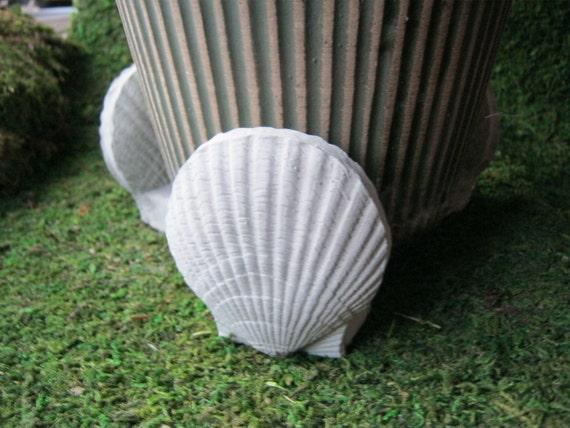 Shell Flower Plant Pot Risers Concrete