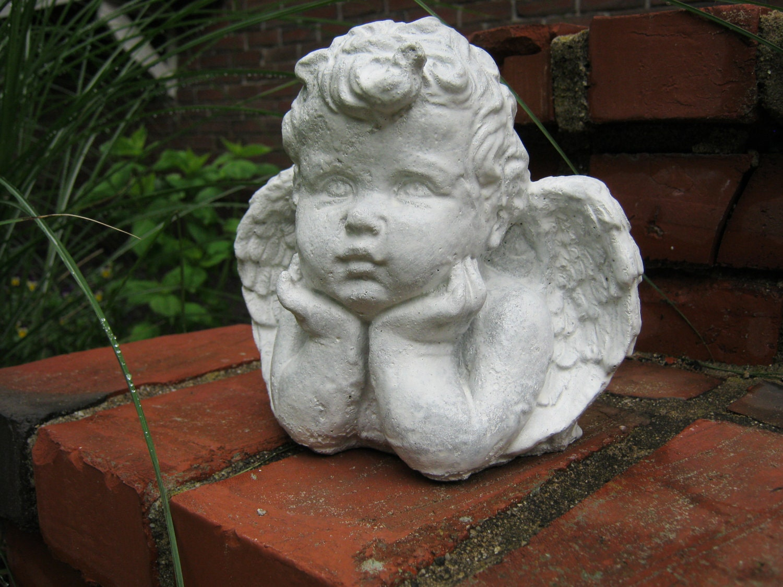 Angel Child Thoughtful Cherub Statue Figure Cherub Angel