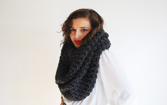 Items similar to The Oversized Cowl or Hood Hand Knit in ...