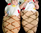 Cute Baby Ice Cream Cone with sprinkles Costume - Sizes 0-3 and 3-6 months - Great Photo Prop - Custom