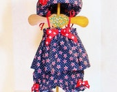 Girls 4TH of JULY OUTFIT Size Newborn to 2t Patriotic Baby Toddler Spring Summer Outfit Sun Hat 3mo 6mo 9mo 12mo 18mo 24mo 2t