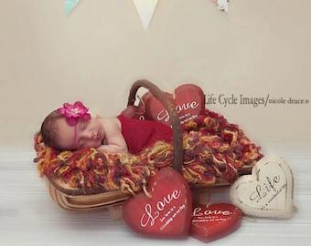 Delphinium Vintage Fuschia Hot Pink Skinny Baby Headband. Pearl Flower headband Baby girl headbands. Photography prop Elastic