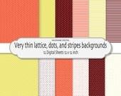 Digital paper pack, digital scrapbook paper chevrons, dots, stripes in bright colors- 12 jpg files 12x12 INSTANT DOWNLOAD 191