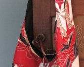 Reversible Crossbody Bag Red Palm