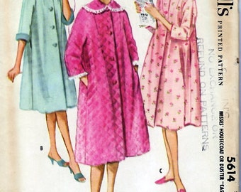 "1960's Misses' Housecoat or Duster  ""Easy to Sew"" Sizes 14-16 (Medium)"