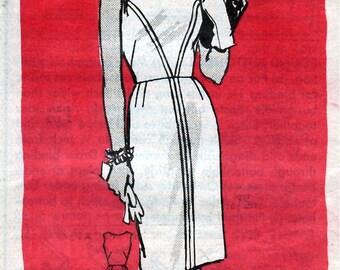 Bust 43-1960's Misses' Dress  Mail Order 4867  Sz 22 1/2