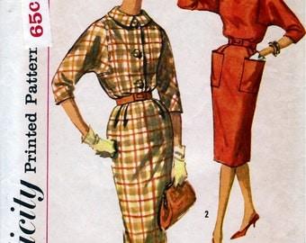 Bust 32-1960's Misses' Dress  Simplicity 3591 Size 12