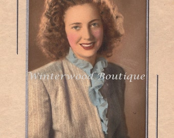 A Beauty, Hand tinted Vintage Photo Taken in Redding Ca.