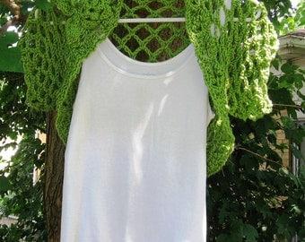 Lichen Faerie Green Bolero Womens or Teen XL-XXL Sweater Shrug Cardigan weddings