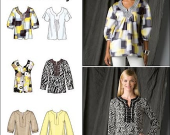 Simplicity Pattern 2696 Misses' Tunics and Blouses Sizes 6-14 NEW