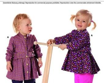 Burda Pattern 9568 Toddler Girls' Winter Coordinates Sizes 3 Months - 2 Years NEW
