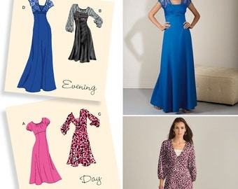 Simplicity Pattern 2498 Misses' Evening and Day Dresses Sizes 14-22 NEW
