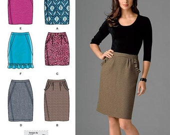 Simplicity Pattern 2343 Misses' 6 made easy Skirts Sizes 6-14 NEW