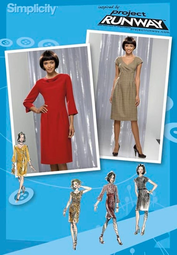 Simplicity Pattern 2550 Misses' Project Runway Dresses Sizes 12-20 NEW
