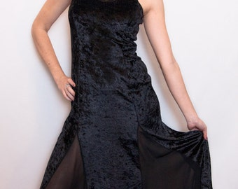 VTG 90s LE CHATEAU velvet Dress M