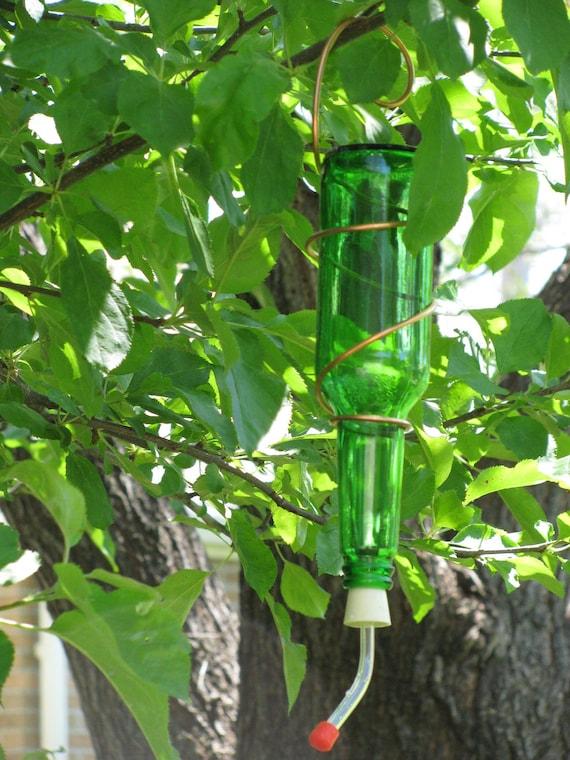 beer bottle hummingbird feeder (green no. 2)