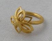 Fern, Ring in 18k Solid Gold