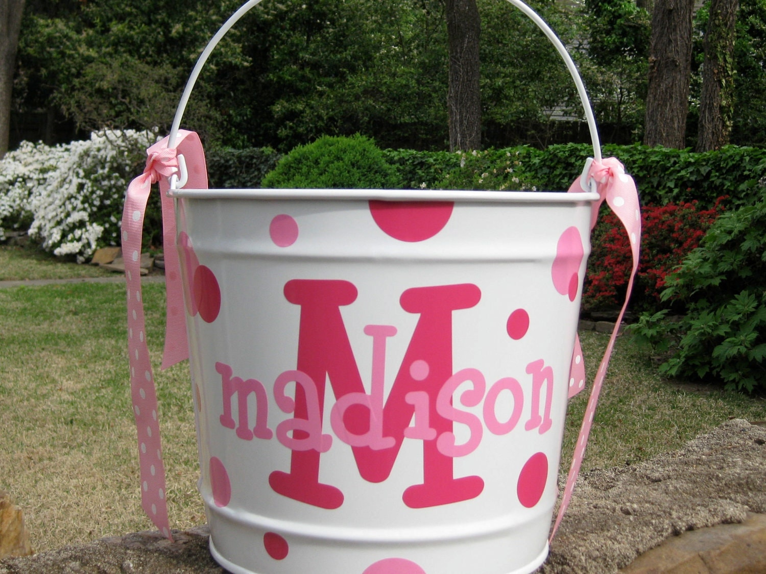 Personalized Easter Bucket Custom Monogrammed Bucket 10