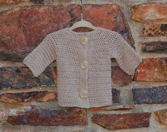 Undyed Alpaca Baby Sweater