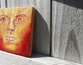 Oil painting on Terra Cotta tile Good Faeries
