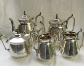 Victorian Meriden Silver Tea Coffee Set / 5 piece Service