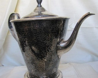 Hammered Silver Musical Teapot Music Box, 1900's  Forbes SPCO  - A Love Story..